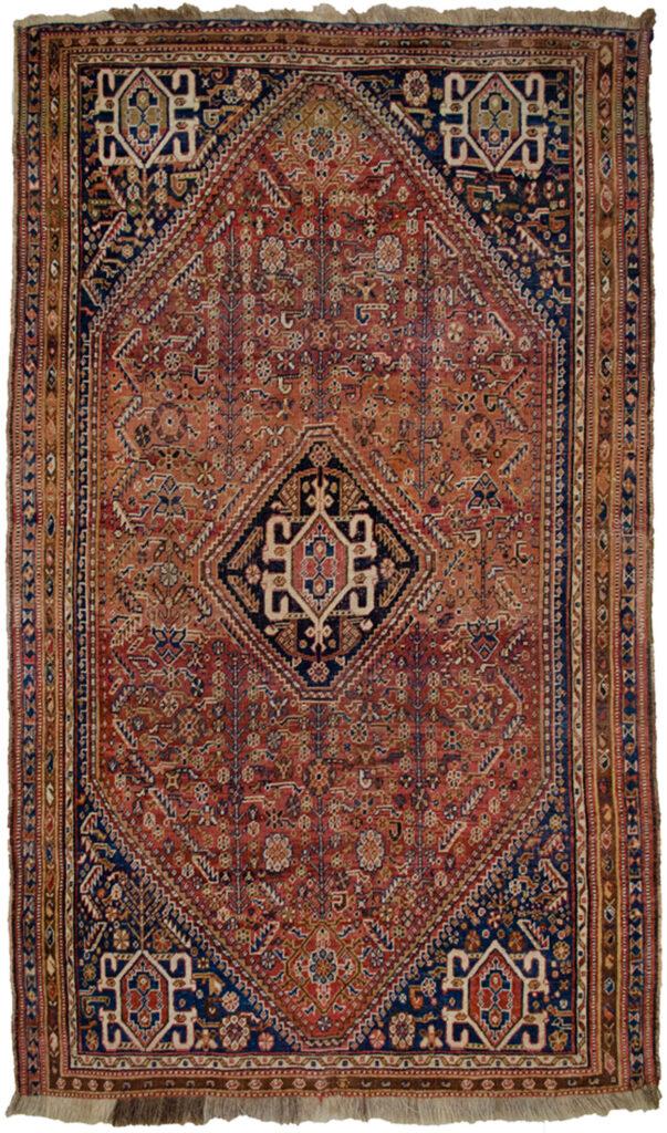Antique Qashqai Rug 227x135cm