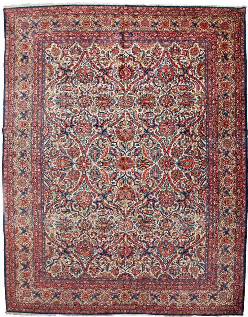 Antique Kashan Dabir Carpet 364x271cm