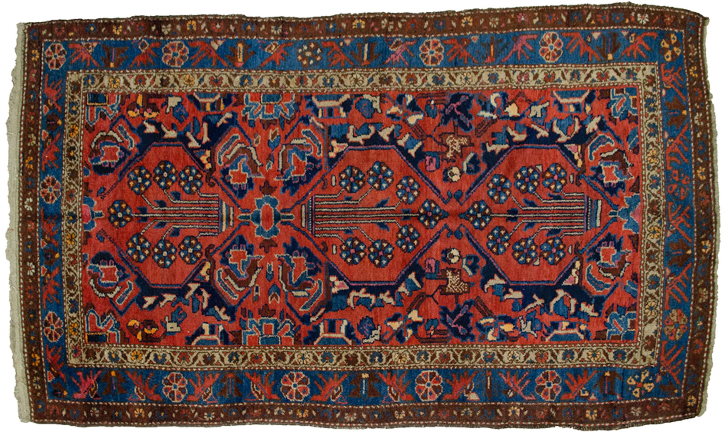 Antique Zanjan Rug 196x117cm