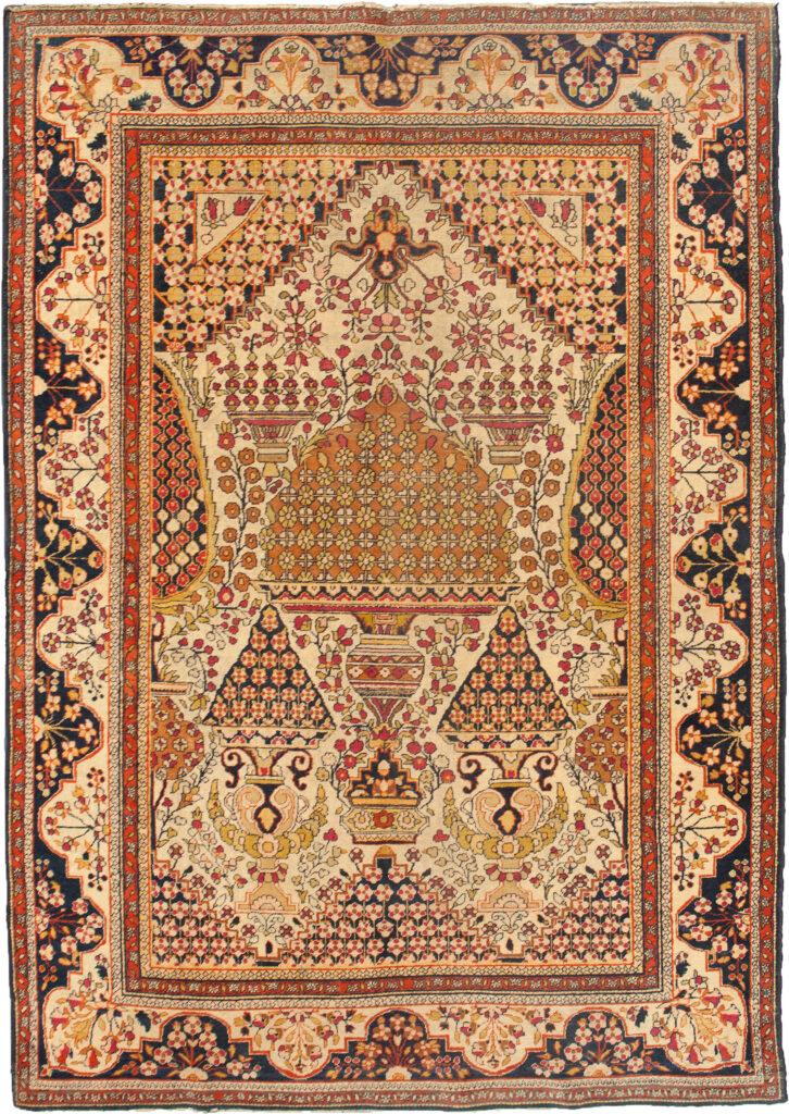 Antique Kashan Rug 206x133cm