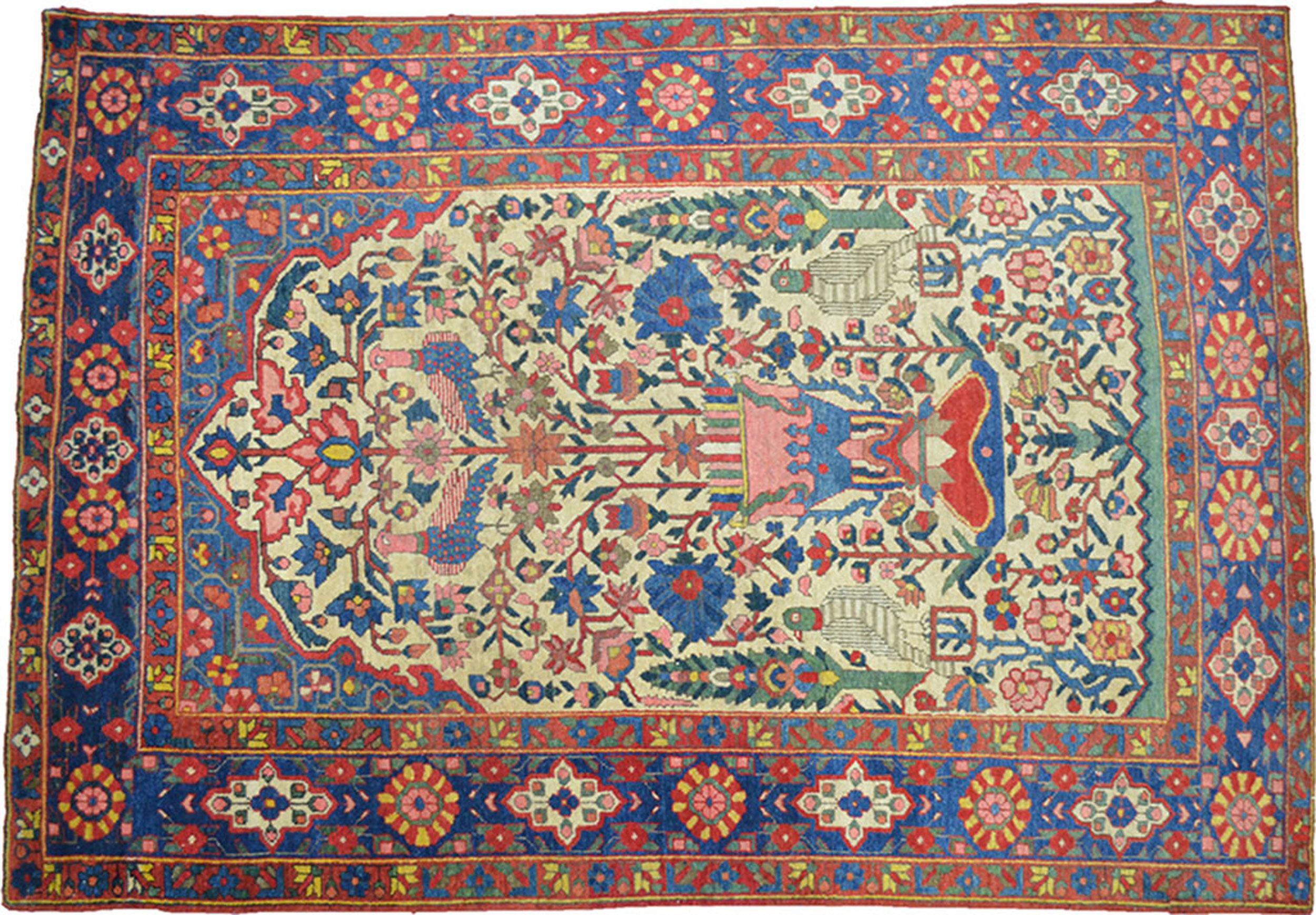 Antique Bakhtiar Rug 195x135cm