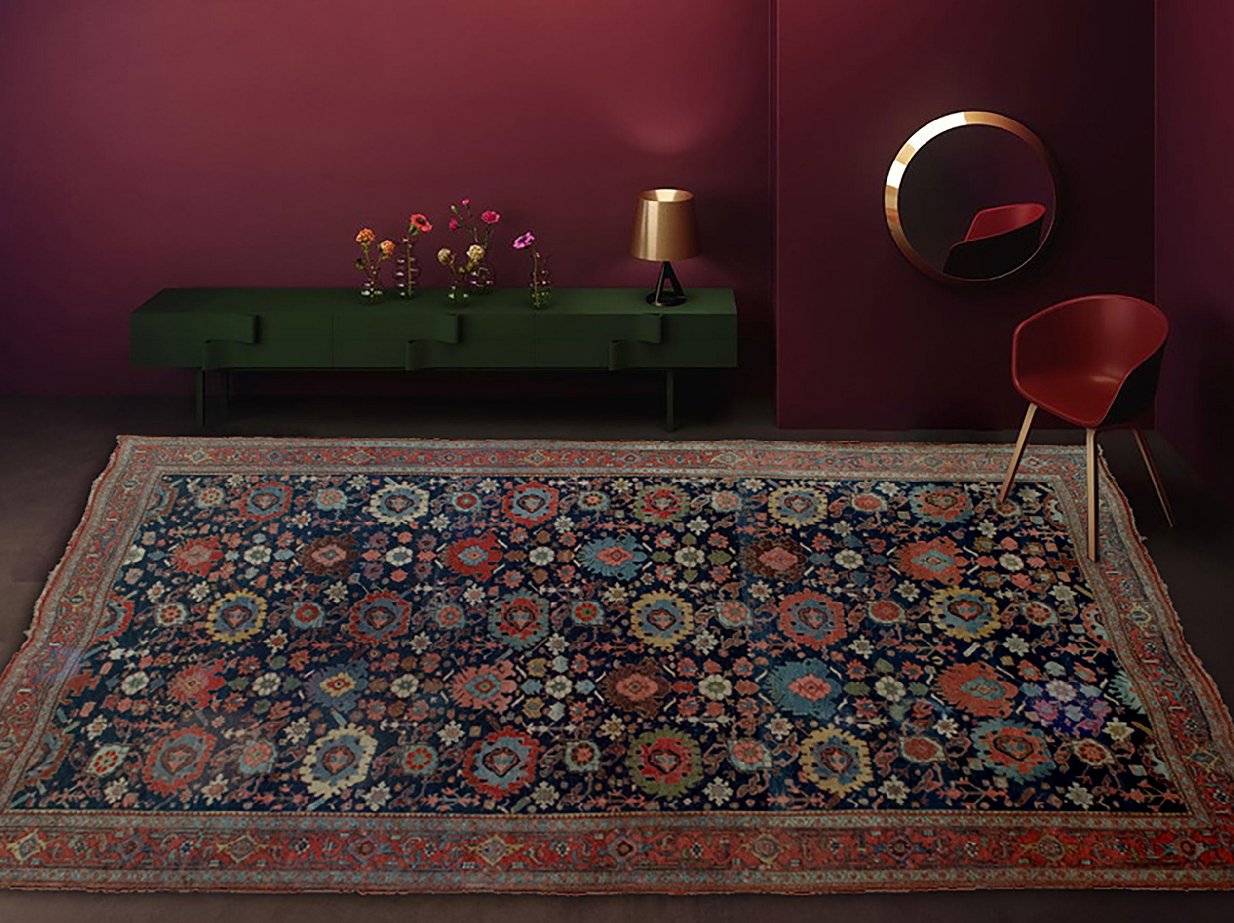 Antique Bijar Carpet 358x230cm