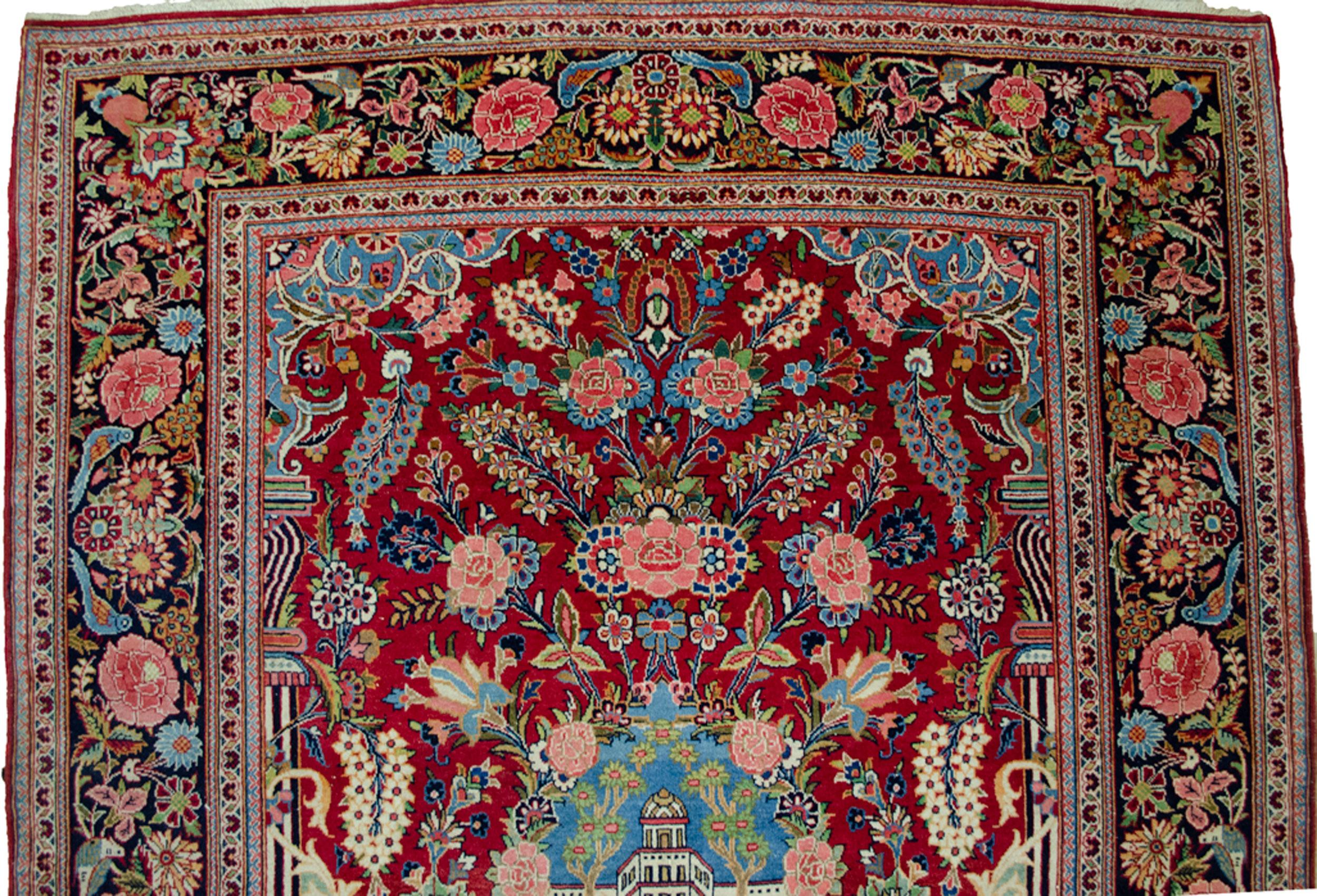 Antique Kashan Rug 206x135cm