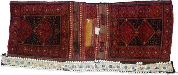Antique Kurdish Saddlebag 150x57