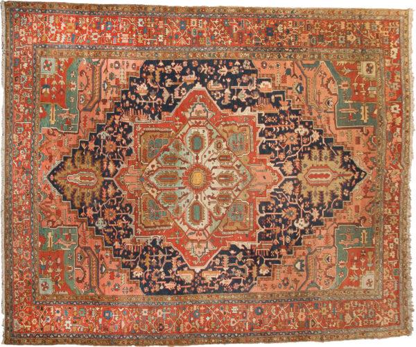 Antique Heriz Carpet 460x362cm