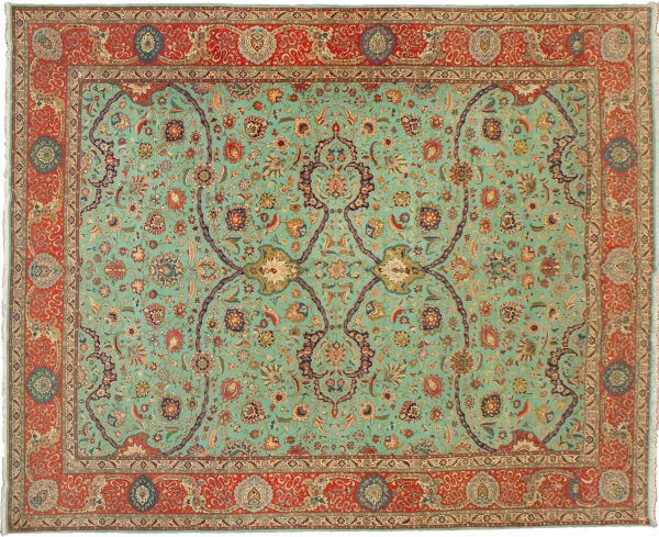 Vintage Tabriz Carpet 412x295cm