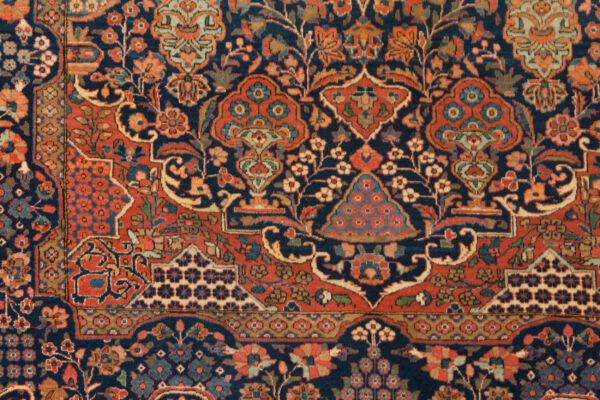 Antique Kashan Rug 200x136cm