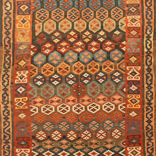 Antique Bijar Kelim Carpet 323x133cm