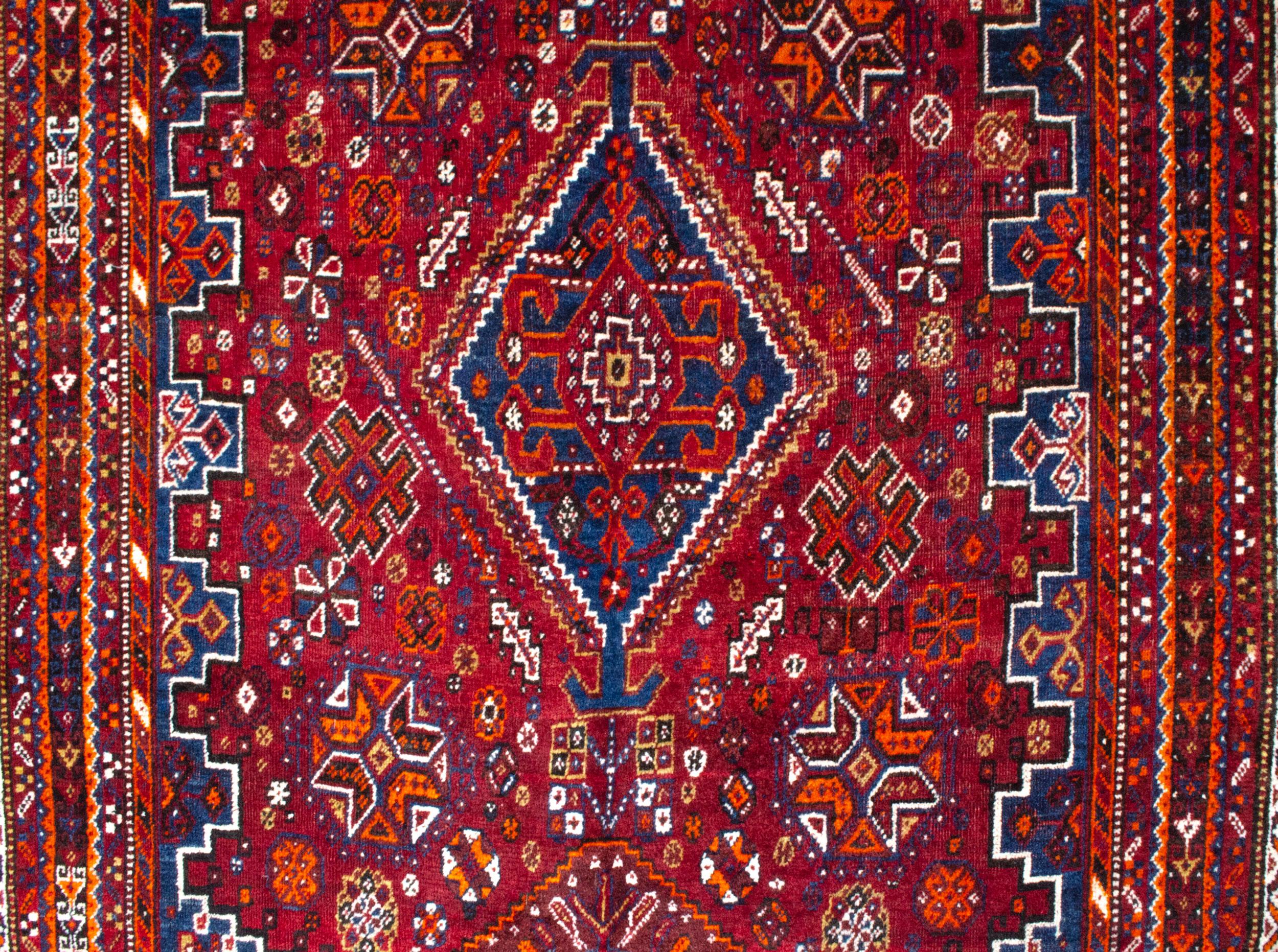 Vintage Qashqai Rug 246x160cm