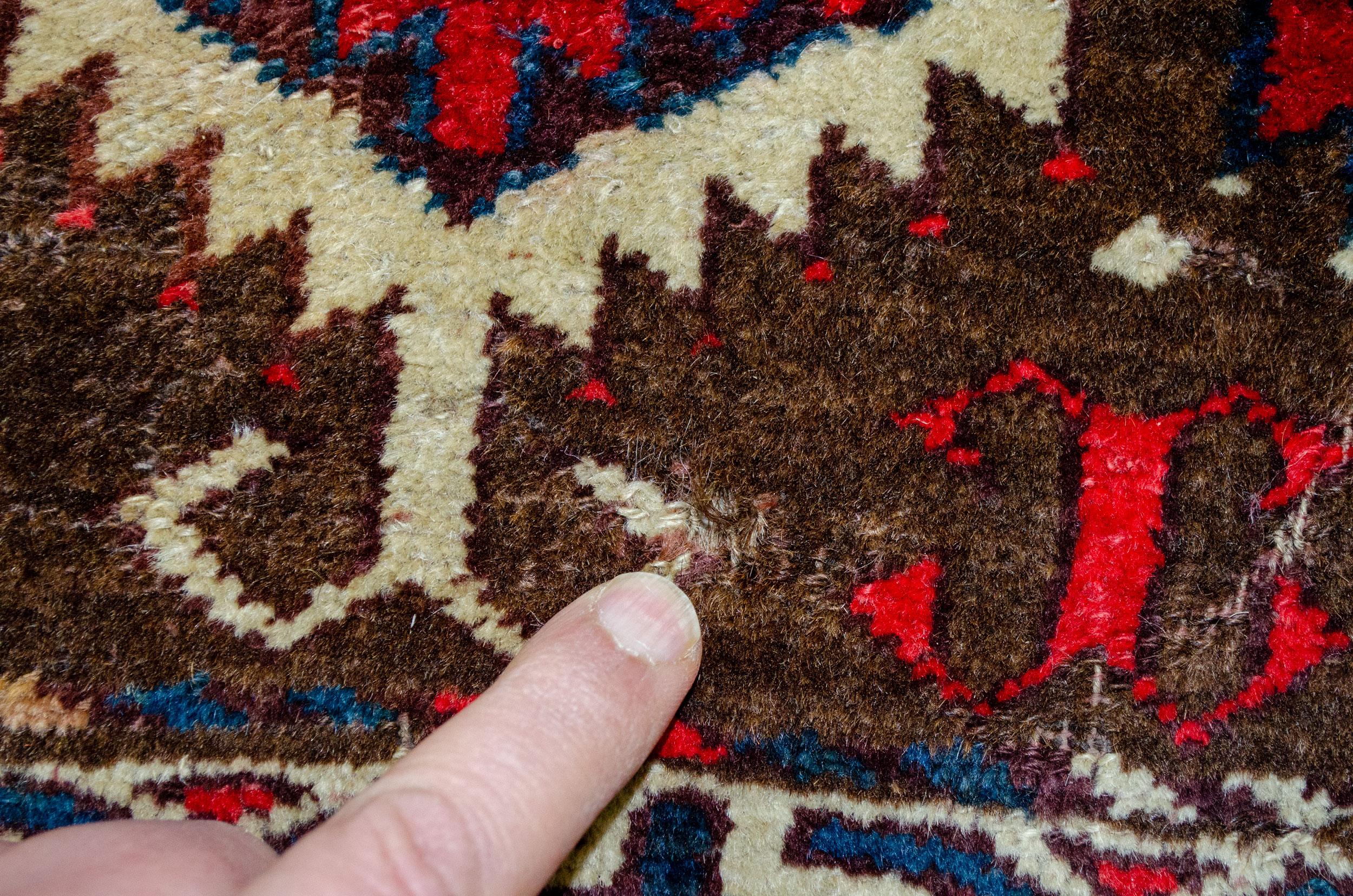 Antique Turkmen Pardeh Rug 164x135cm