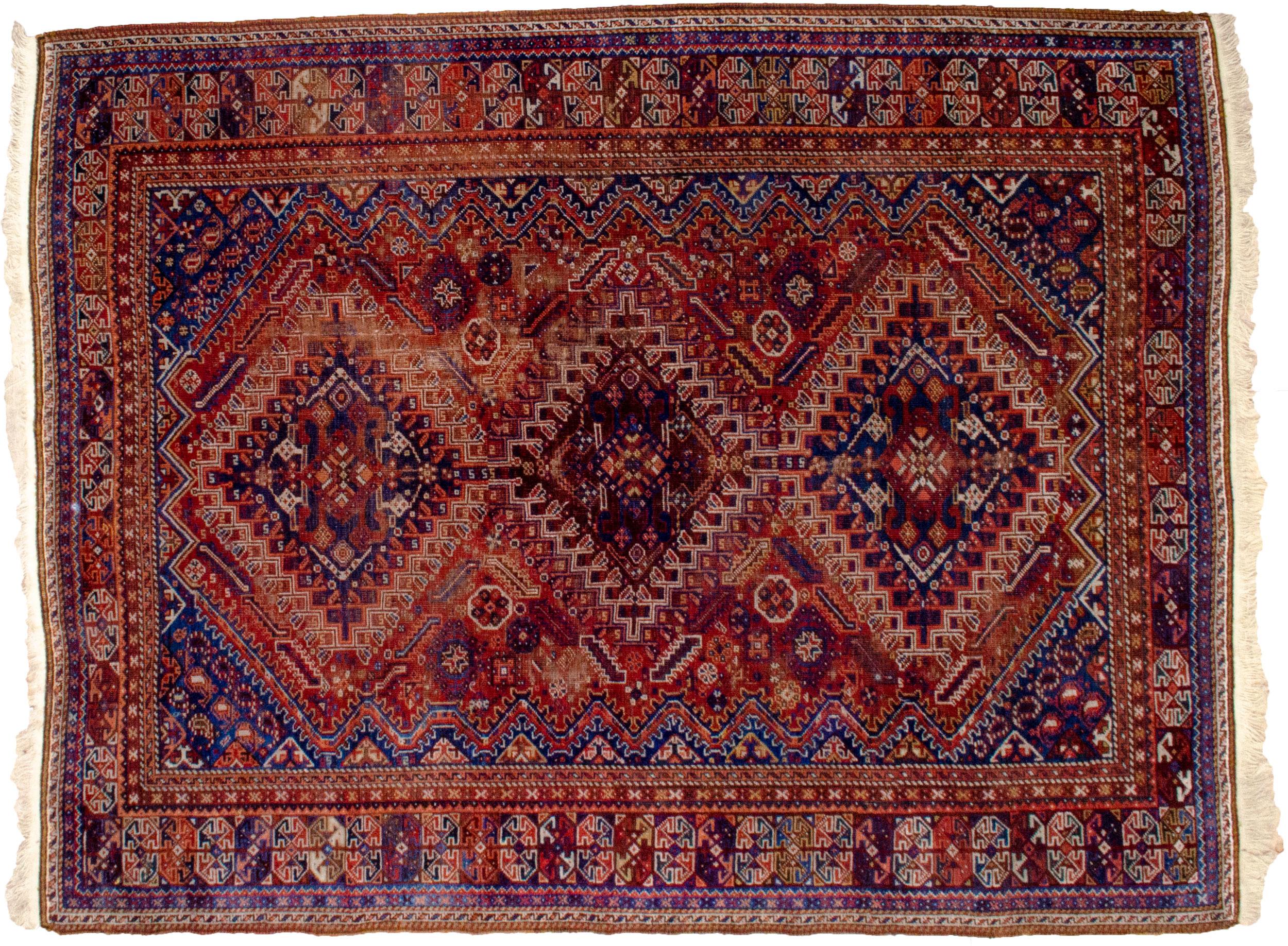 Antique Shiraz Rug 234x179cm