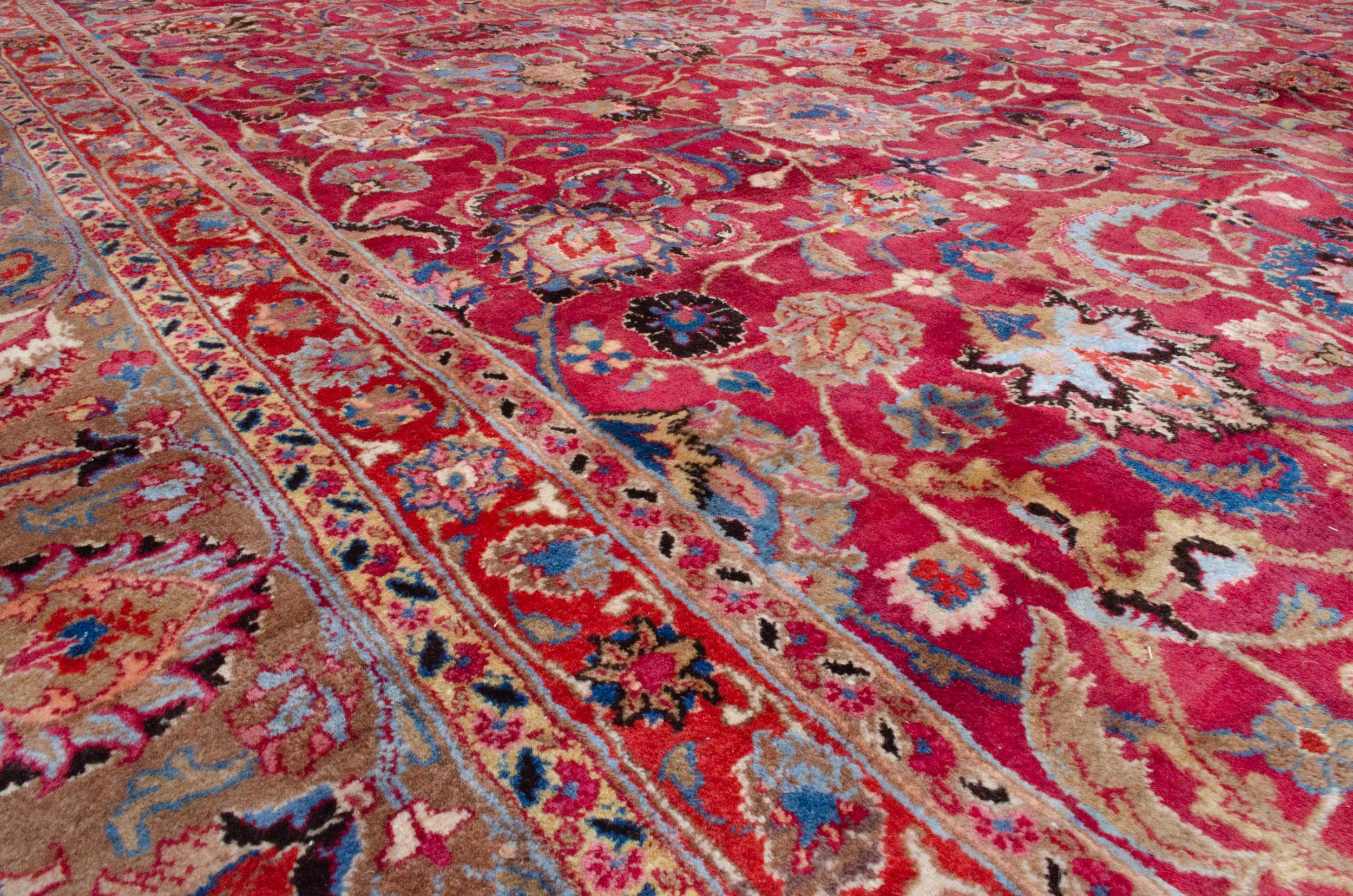 Vintage Mashad Carpet 504x306cm