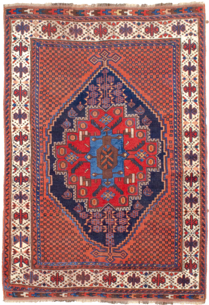 Antique Afshar Rug 184x133cm