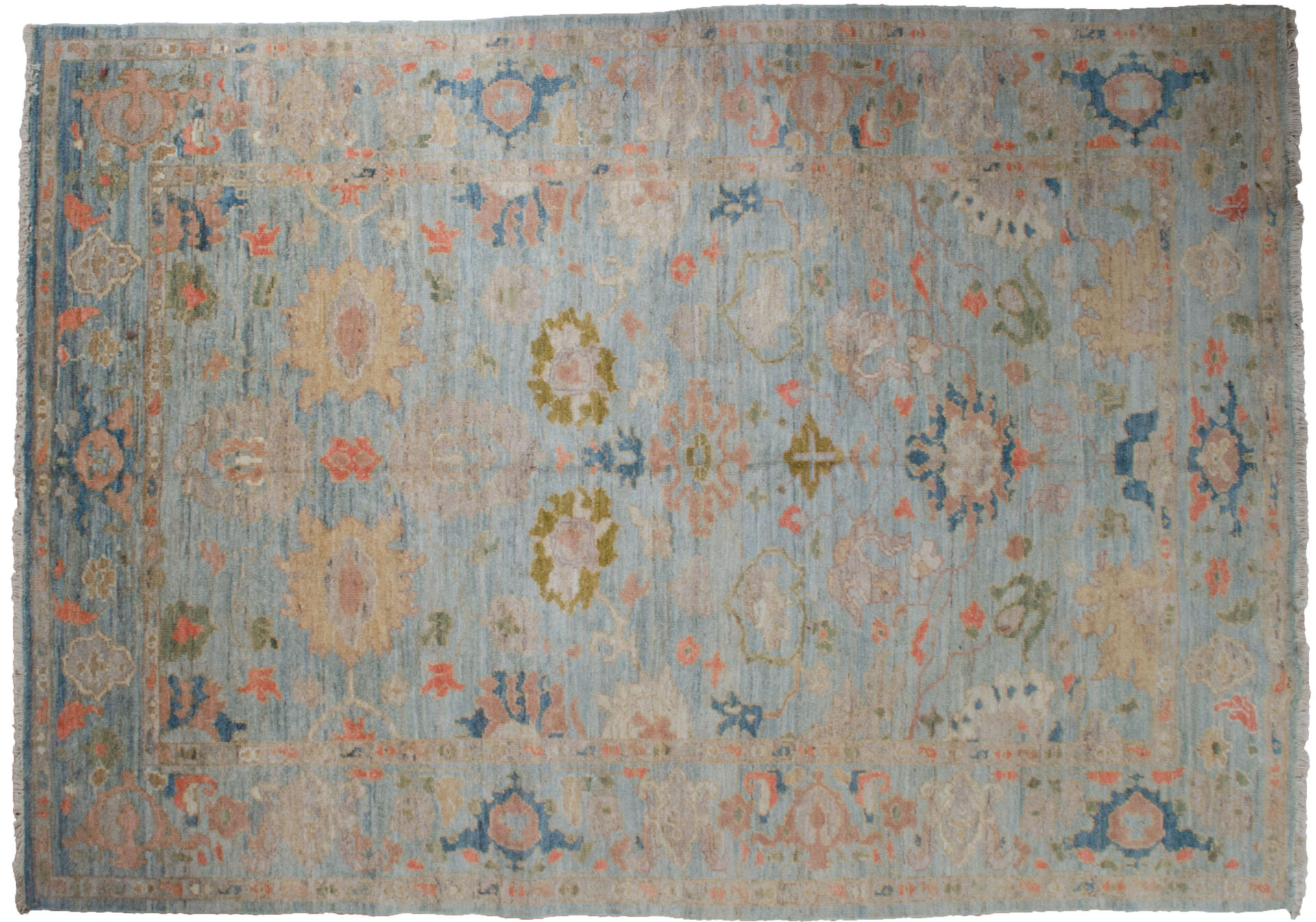 Antique Finished Sultanabad Rug 252x183cm