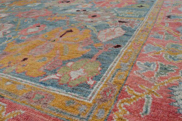 Antique Finished Ushak Carpet 357x260cm