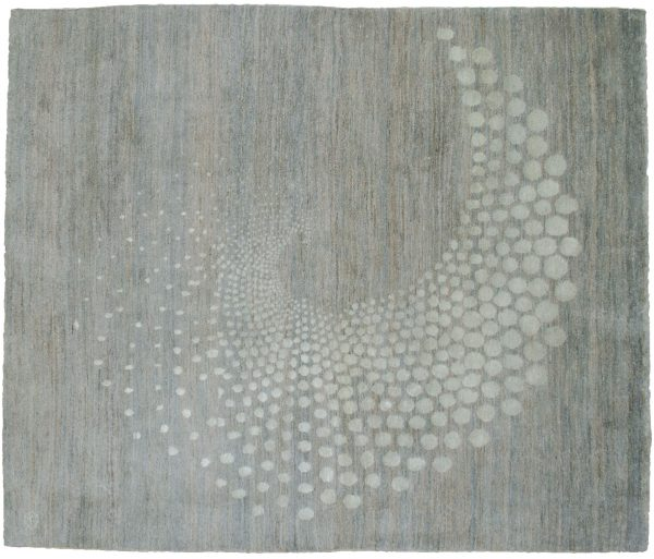 Modern Persian Sfera Part Silk Rug 227x169cm