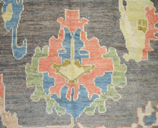 Antique Finished Ushak Carpet 357x309cm