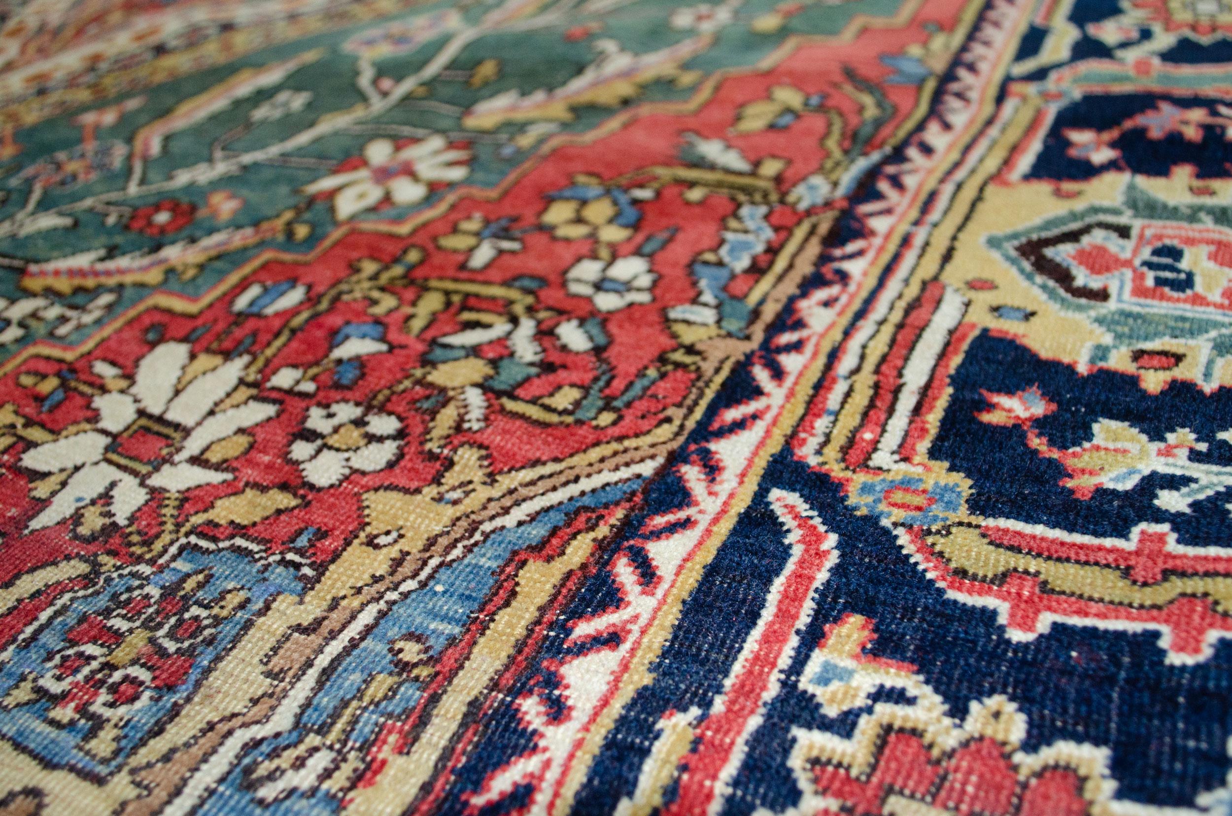 Antique Kashkooli Carpet 286x140cm